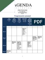 Agenda Semanal Nro 1 Enero 2017