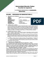 Urp-silabo Procesos de Manufactura II