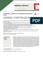 Cristaloides en MAnejo de Paciente Critico