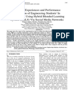 Learning Experiences and Performance Evaluation of Engineering Students' In Mathematics Using Hybrid Blended Learning System (HBLS) Via Social Media Networks