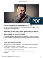 Common IELTS Spelling Mistakes