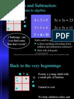 Buttons to Algebra Storyline