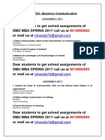 MBA 102 –Business Communication 1ST SEM MBA SPRING 2017 SMU SOLVED ASSIGNMENTS.docx