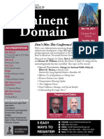 7th Annual Eminent Domain Seminar, Seattle, Washington, May 18, 2017