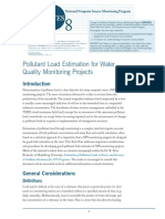 Pollutant Load Estimation for Water Quality Monitoring Projects