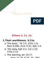 Paul's Prayer Class 12