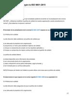 Política de Calidad según la ISO 90012015
