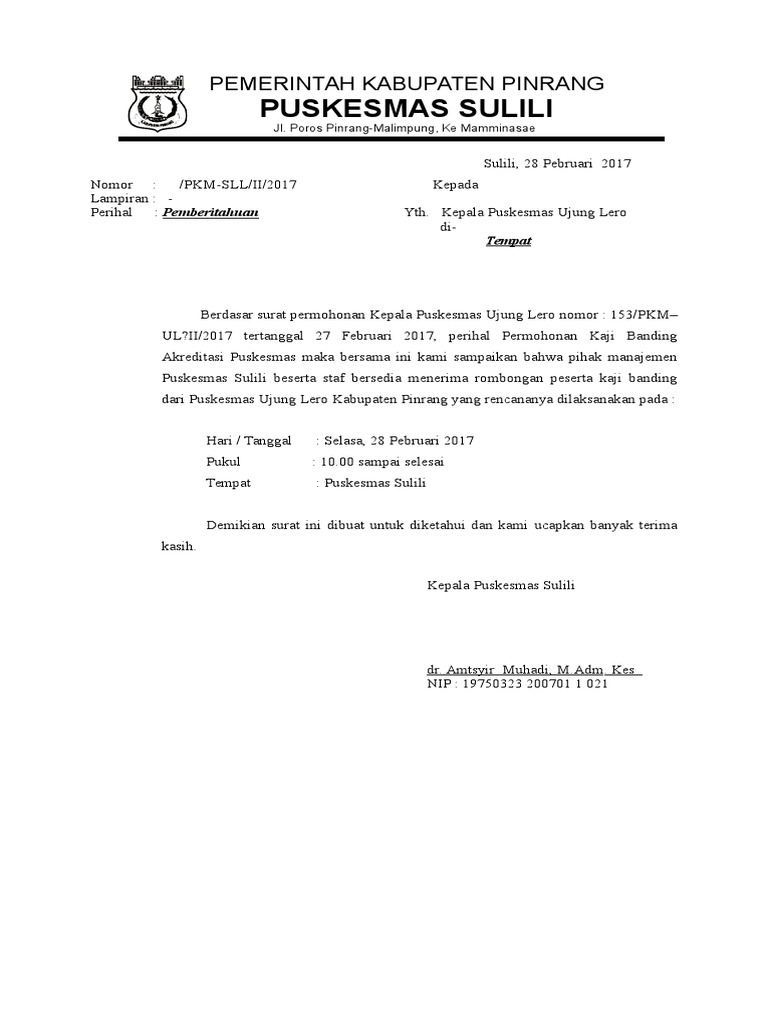 Surat Balasan Kaji Banding
