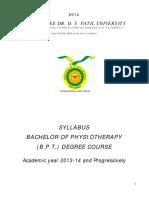 Patil - BPT_Syllabus