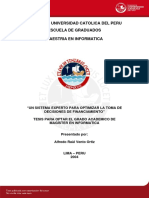 Sistema Experto de  Financiamiento-  Alfredo Vento ortiz