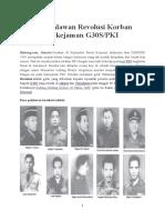 10 Pahlawan Revolusi Zakiyyah