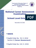 2016 NCAE Orientation School Level