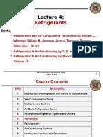 Lecture 4 Refrigerants