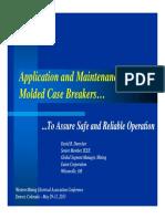 Molded Case Circuit Breakers Application & Maintenance Eaton May 2013