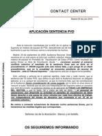 Aplicación Sentencia PVD