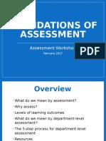 Department Assessment Workshop I - Foundations