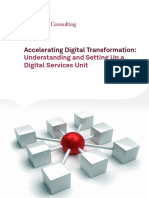 Accelerating Digital Transformation Understanding and Setting Up a Digital Services Unit