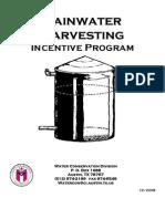 Austin TX $500 Rainwater Harvesting rebate program