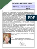 Forest Hills Presbyterian Church of Tampa - April Newsletter