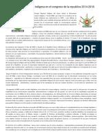 La Participación Política Indígena en El Congreso de La Republica 2014-2018