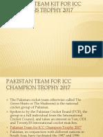 Pakistan Team Kit for ICC Champions Trophy 2017