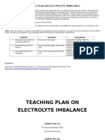 Teaching Plan on Electrolyte Imbalance22