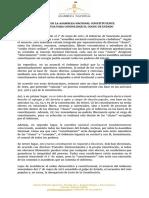 Declaración Asamblea Nacional