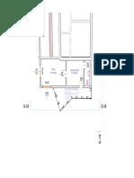 Plan etaj - recompartimentare spatiu existent