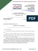 Lancaster County Court Case No. 08-CI-13373 re PRAECIPE TO ADD DEFENDANTS BELVEDERE INN AND FREMONT STREET April 29, 2017