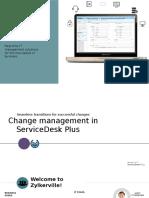 ITIL Change Management in Servicedesk Plus