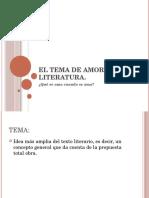 El Tema de Amor en La Literatura
