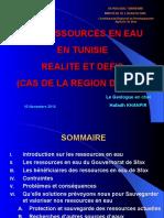 Les Ressources en Eau de Sfax 10 Novembre 2012 KHANFIR CRDA Sfax