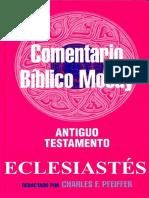 Comentario Biblico Moody - Eclesiastés
