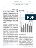 Effects of Beta Carotene on Light Stability of Soybean Oil