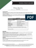 204 Dura Seal 25 Metric Fiberglass Shingles Product Data 827137