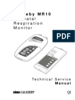 Graseby MR10 - Respiration Monitor - Service Manual