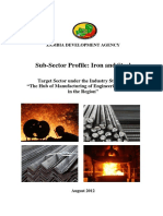 Iron and Steel Sub Sector Profile (August 2012)