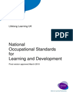 Nationanal Occupational Standards Learning and Development