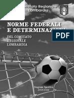 Norme e Determinazioni Del Crl 2015 - 2016