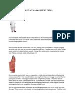 Pakaian Tradisional Masyarakat India