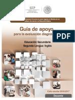 Guía de apoyo para la evaluación diagnóstica Educación Secundaria.