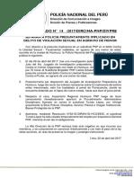 COMUNICADO PNP N° 14 - 2017