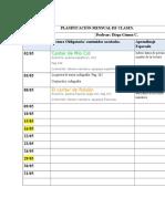 planificación mensual de clases 8 °