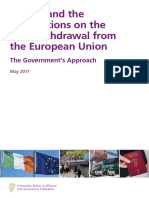 Ireland and the negotiations on the UK's withdrawal from the European Union