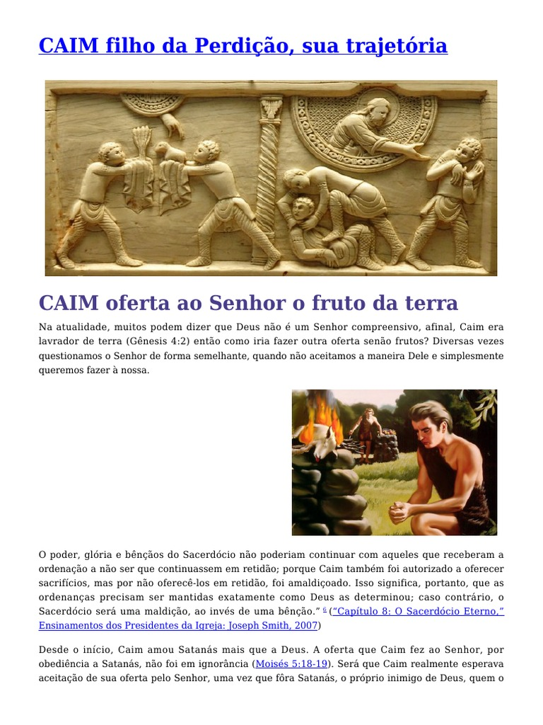96f9a4fbb Caim, Filho Da Perdição, Sua Trajetória.