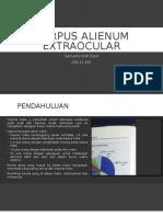 Corpus Alienum Extraocular