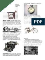 Imventos Del Siglo 18 y 20