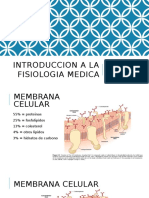 Introduccion a La Fisiologia Medica