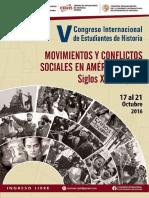 V Congreso Internacional de Estudiantes de Historia - Programa y sumillas