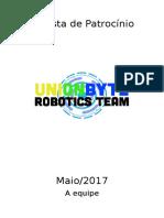Proposta de Patrocínio Unionbyte Robotics Team - Maio/2017